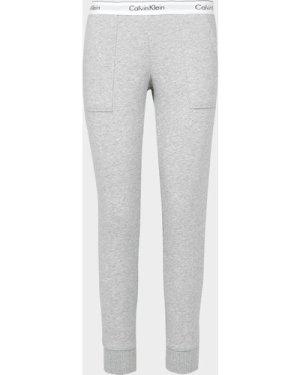Women's Calvin Klein Underwear Fleece Pants Grey, Grey Marl