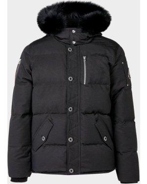 Men's Moose Knuckles 3Q Padded Fur Jacket Black, Black