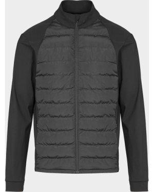 Men's Castore Quilted Panel Jacket Black, Black