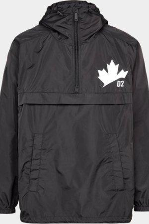 Men's Dsquared2 Half Zip Maple Jacket Black, Black