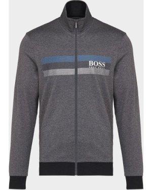 Men's BOSS Authentic Track Top Multi, Grey/Blue