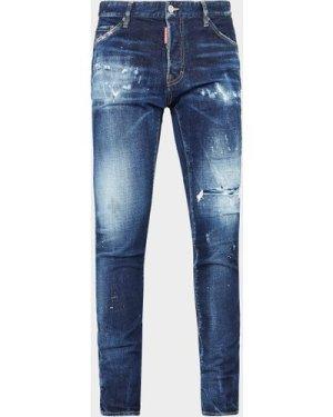 Men's Dsquared2 Cool Multi-Splat Jeans Blue, Blue