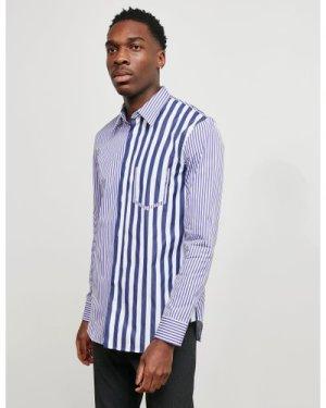 Men's Maison Margiela Stripe Long Sleeve Shirt White, White