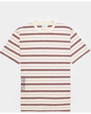 Men's Wood Wood Slater Stripe Short Sleeve T-Shirt White, White