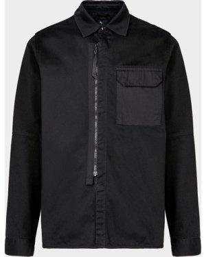 Men's Ma Strum Chest Pocket Overshirt Black, Black