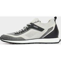 Men's HUGO Icelin Run Trainers Multi, White/Black