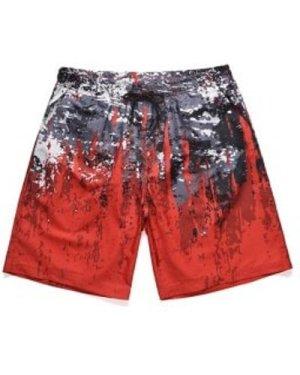 Splatter Paint Low Waist Beach Shorts