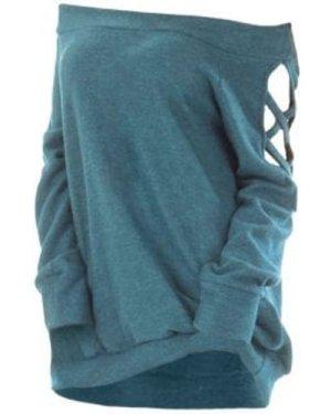 Crisscross Cutout Off The Shoulder Knitwear