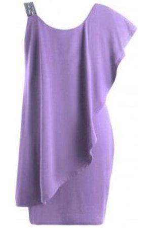 Plus Size Flounce One Shoulder Mini Dress
