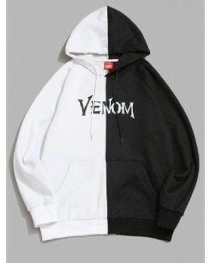 Marvel Spider-Man Venom Printed Contrast Fleece Hoodie