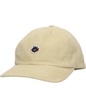 Magenta Cord Dad Cap beige