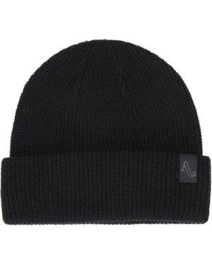 Autumn Headwear Simple Beanie black