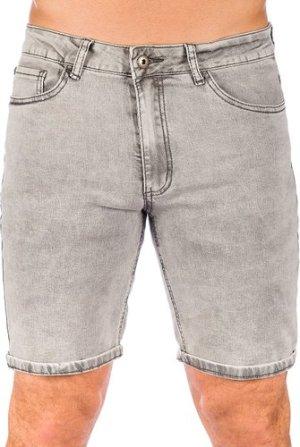 Iriedaily Slim Shot2 Denim Shorts grey bleach wash