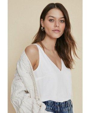 Womens Formal Vest - white, White