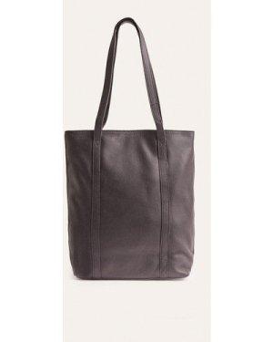 Womens Leather Tote Bag - black, Black