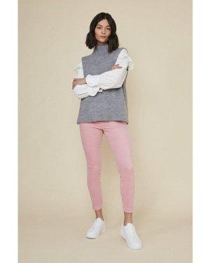 Womens Velvet Skinny Trouser - pink, Pink