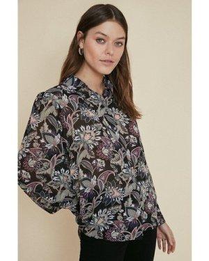 Womens Floral Printed Shirt - multi, Multi