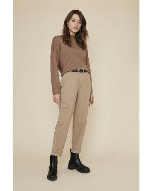 Womens Twill Cargo Trouser - beige, Beige