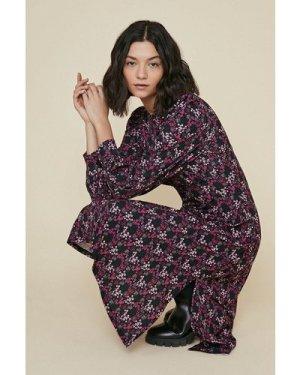 Womens Printed Empire Line Midi Dress - multi, Multi