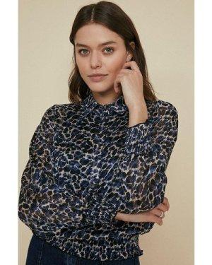 Womens Animal Shirt - blue, Blue