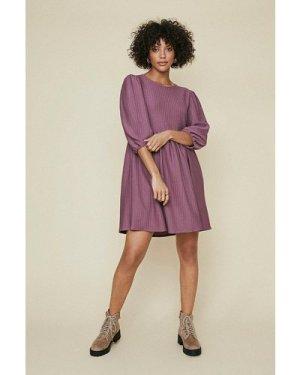 Womens Textured Skater Dress - mauve, Mauve