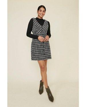 Womens Tweed Check Dress - multi, Multi