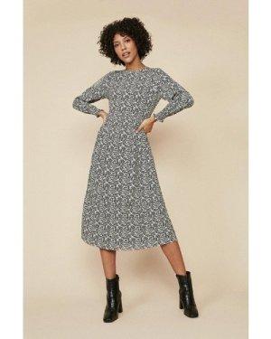 Womens Tiered Midi Dress - multi, Multi