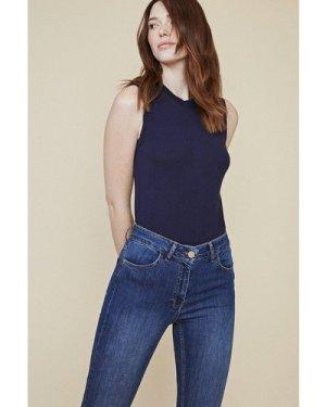 Womens Lily Organic High Rise Short Skinny Jean - mid wash, Mid Wash
