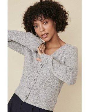 Womens Cosy Cardigan - grey marl, Grey Marl