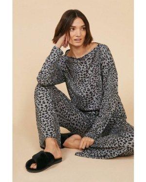 Womens Animal Lounge Wide Leg - grey, Grey