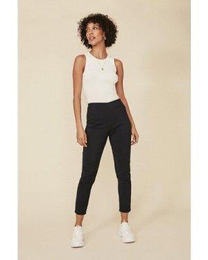 Womens Skinny Cotton Sateen Trouser - dark navy, Dark Navy