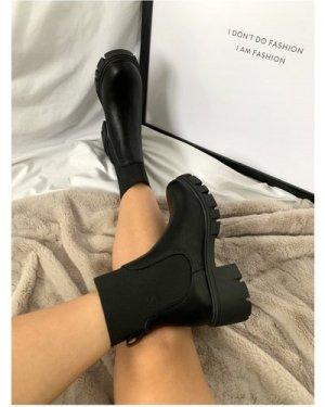 Black Feature Elastic Chelsea Boot size: Footwear 9 UK, colour: Black