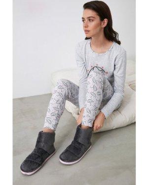 Trendyol Little Mistress x Trendyol Grey Boot Slippers size: Footwear