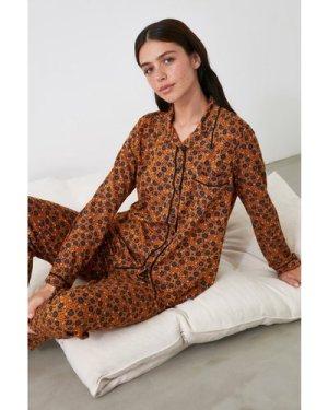 Trendyol Little Mistress x Trendyol Burnt Orange Printed Pyjamas size: