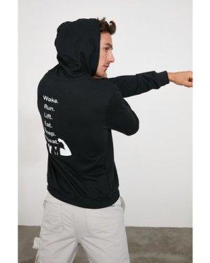 Trendyol Men's Black Hoodie size: M, colour: Black