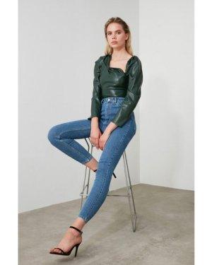 Trendyol Blue Skinny Jeans size: 8 UK, colour: Blue