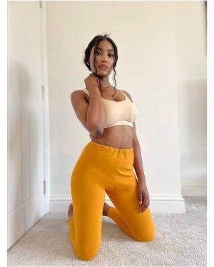 Ms Campbell Dark mustard crepe leggings size: M UK