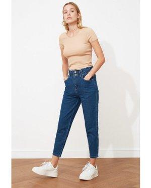 Trendyol Blue Waist Jeans size: 12 UK, colour: Blue
