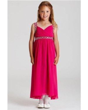 Little MisDress Pink Chiffon Maxi Dress size: 9-10 Yrs, colour: Pink