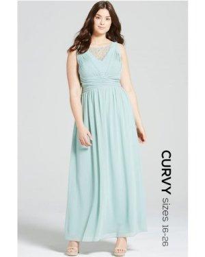 Little Mistress Curvy Sage Empire Line Maxi Dress size: 28 UK, colour: