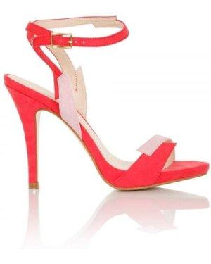 Little Mistress Footwear Lightning Pink Contrast Sandals size: Footwea