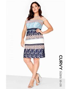 Little Mistress Curvy Lace Stripe Shift size: 20 UK, colour: Print
