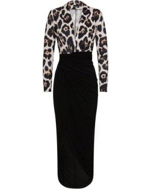 Leopard Split Dress size: 14 UK, colour: Animal Print