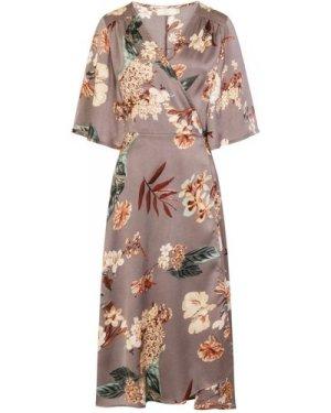 Daydreamer Kimono Sleeve Dress size: M/L, colour: Grey Print