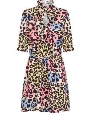 Fiesta Frill Collar Shift Dress size: M, colour: Print