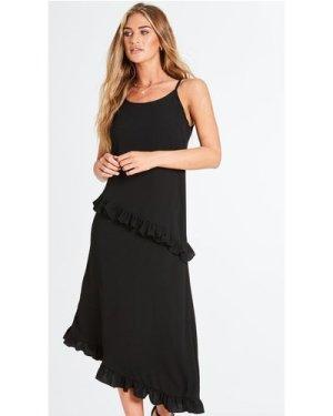 Sanui Cami Frill Dress size: 14 UK, colour: Black