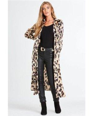 Samba Shirt Dress In Leopard size: L, colour: Leopard Print