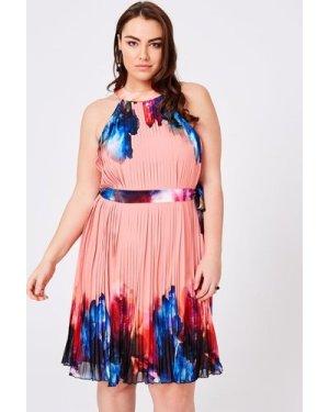 Little Mistress Curvy Rae Printed Shift Dress size: 18 UK, colour: Mul