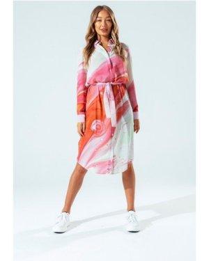 HYPE MARBLE BRICK WOMEN'S SHIRT DRESS size: 16, colour: Multi