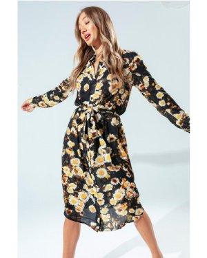 HYPE DAISY LOVE WOMEN'S SHIRT DRESS size: 14 UK, colour: Multi